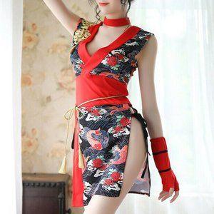 Sexy Geisha Kimono Japanese Cosplay Outfit Costume